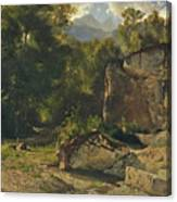 Forest Track. 1855 Canvas Print