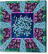 Forget Me Nots Fabric By Clothworks Canvas Print