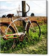 Forgotten Bicycle Canvas Print