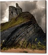 Forgotten Castle In Ballybunion Canvas Print