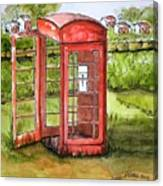 Forgotten Phone Booth Canvas Print