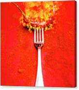 Forking Hot Food Canvas Print
