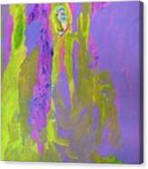 Forlorn In Purple And Yellow Canvas Print