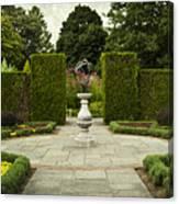 Quiet Garden Space At Niagara Falls Botanical Gardens Canvas Print