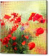Formas Y Flores Canvas Print