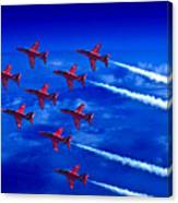 Formation Flying Britains Red Arrows Canvas Print