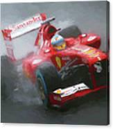 Formula One Burning The Track Canvas Print