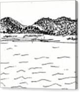 Fornes Embalse De Los Bermejales Canvas Print