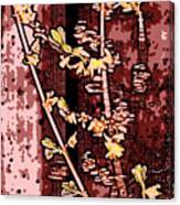 Forsythia Branch Canvas Print