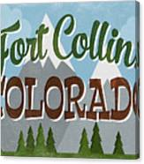 Fort Collins Colorado Snowy Mountains	 Canvas Print