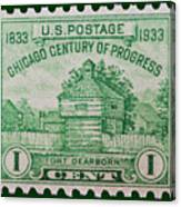 Fort Dearborn Postage Stamp Canvas Print