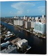 Fort Lauderdale Aerial Photography Canvas Print