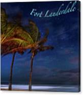 Fort Lauderdale Beach Greeting Canvas Print