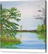 Fort Mc Coy Lake Canvas Print