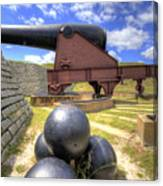 Fort Moultrie Cannon Balls Canvas Print