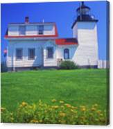 Fort Point Lighthouse Stockton Springs Canvas Print