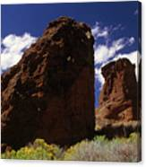 Fort Rock Twin Towers- H Canvas Print