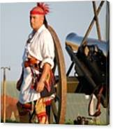 Fort Stanwix Warrior Canvas Print