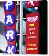Fort Worth Parking Sign Digital Oil Paint Canvas Print