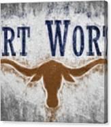 Fort Worth Texas Flag Canvas Print