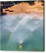 Fort Worth Water Gardens - Aerated Pool Canvas Print
