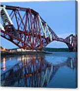 Forth Railway Bridge In Edinburg Scotland  Canvas Print