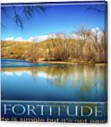 Fortitude Boise Motivational Artwork By Omashte Canvas Print