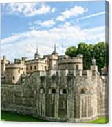 Fortress Of The Tower Of London Canvas Print