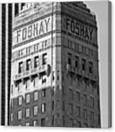 Foshay Tower in Black and White Canvas Print
