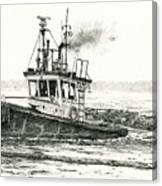 Foss Tugboat Sea Duke Canvas Print