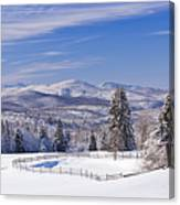 Foster Bridge Winter Panorama Canvas Print