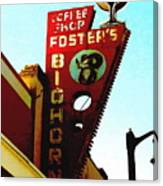 Foster's Bighorn Cafe Canvas Print