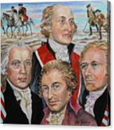 Founding Fathers Jay Madison Paine And Hamilton Canvas Print