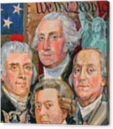 Founding Fathers Of America Canvas Print