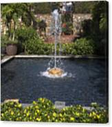 Fountain And Peppers Canvas Print