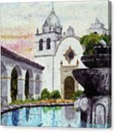 Fountain At Carmel Canvas Print