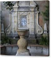 Fountain At Mission Carmel Canvas Print
