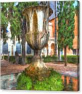Fountain At National Roman Museum Canvas Print