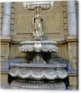 Fountain At Quattro Canti In Palermo Sicily Canvas Print