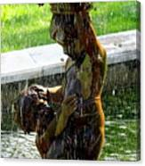 Fountain Cherubs Canvas Print