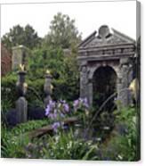 Fountain Garden Canvas Print