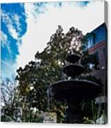 Fountain In Downtown Charleston Canvas Print