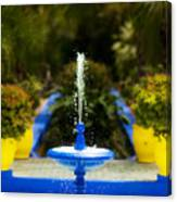 Fountain In Jardin Majorelle Morocco Canvas Print