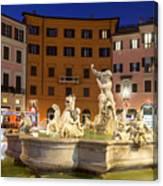 Fountain In Rome Canvas Print