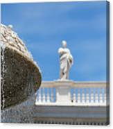 Fountain In The Piazza Canvas Print