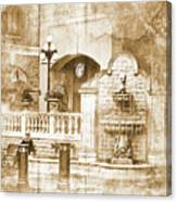 Fountain Of Rest Canvas Print