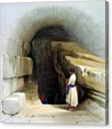 Fountain Of Siloam Valley Of Jehosophat 1842 Canvas Print