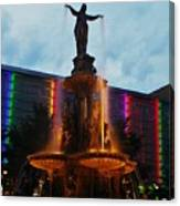 Fountain Square Canvas Print