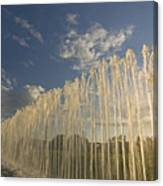 Fountain With Sunlight From The Side Canvas Print