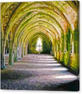 Fountains Abbey, Vaulted Chamber Canvas Print